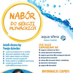 Nowy nabór do szkoły pływania Aqua Sfera