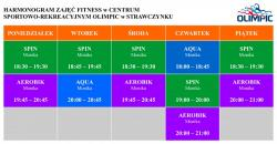 Nowy harmonogram zajęć fitness