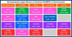 Aktualizacja harmonogramu zajęć fitness