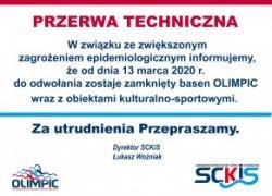 Przerwa techniczna od 13.03.2020 do odwołania