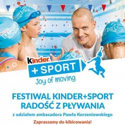Zapraszamy na Festiwal Kinder+Sport Radość z pływania