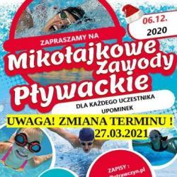 Zmiana terminu Mikołajkowych zawodów pływackich
