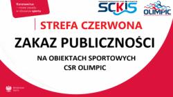 Czerwona strefa - zakaz publiczności na obiektach sportowych
